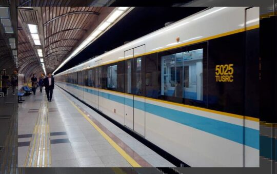 Heravi station on Line 3 in Tehran, Iran opened