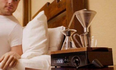 This Alarm Clock Wakes You Up With Freshly Brewed Coffee or Tea