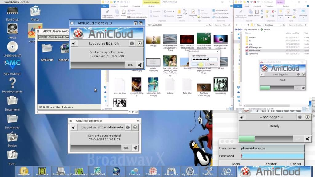 AmiCloud for many desktop OS systems