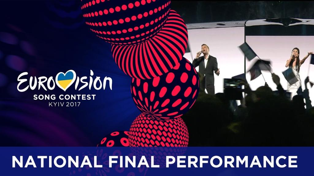 Estonia moves on with a Modern Talking move at Eurovision 2017 in Kiev, Ukraine