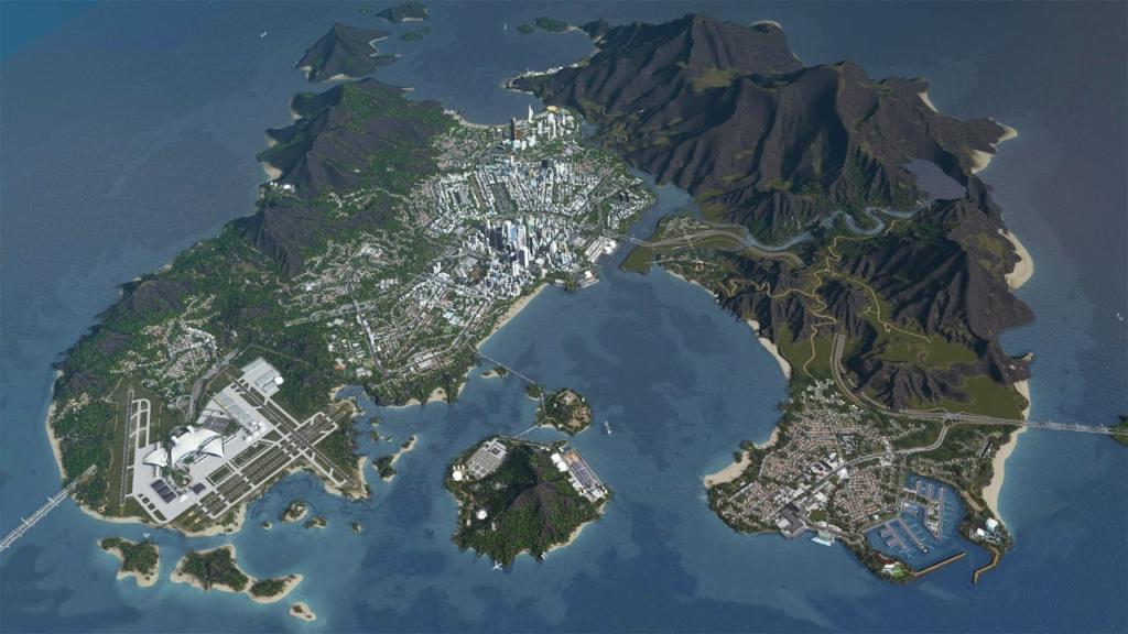 Cities Skylines Island