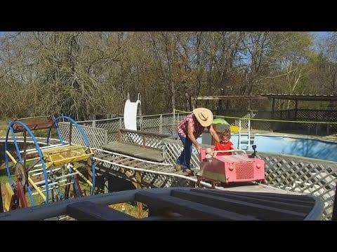 Grandpa builds a theme park in Texas, USA