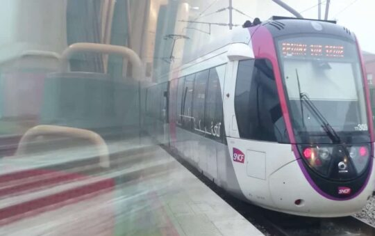 Train-Tram T11 Light Rail Service that opened on 30th of June in Paris Tested
