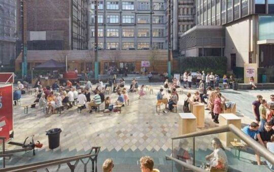 An outdoor cinema with a big 1980s party in Manchester
