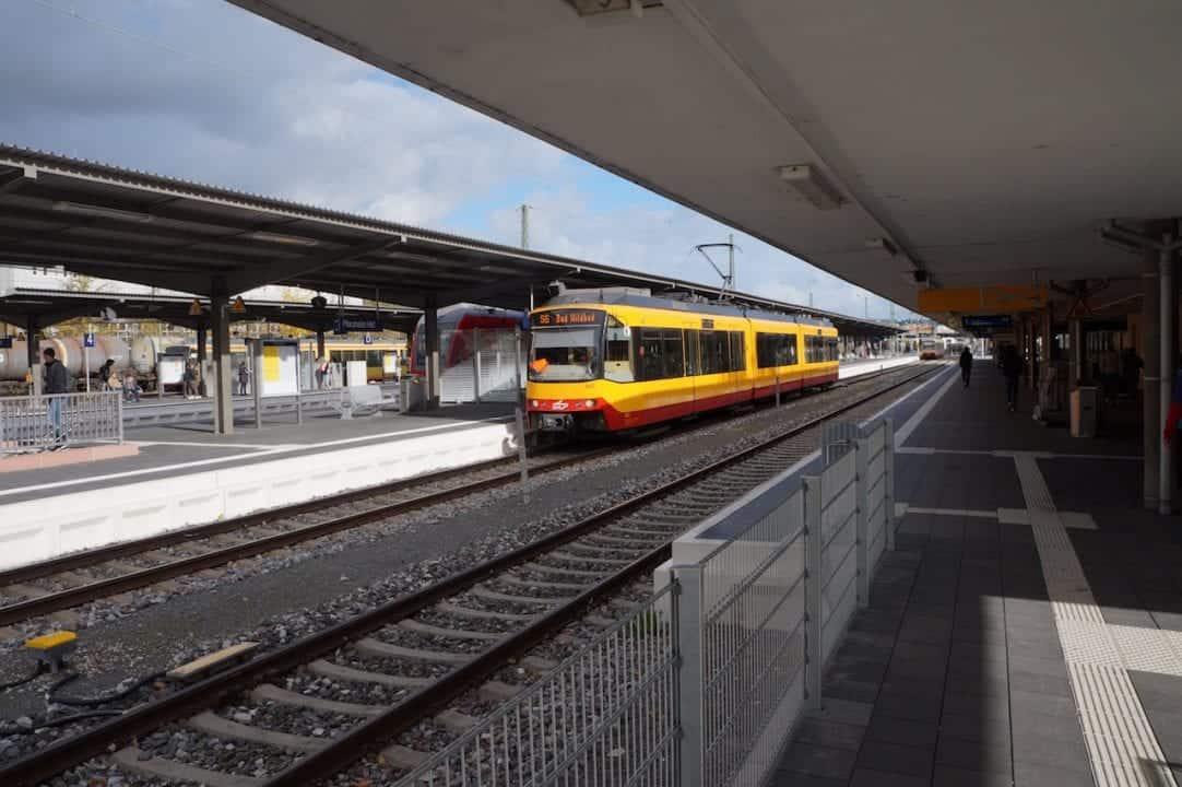 Karlsruhe Tram at a Station