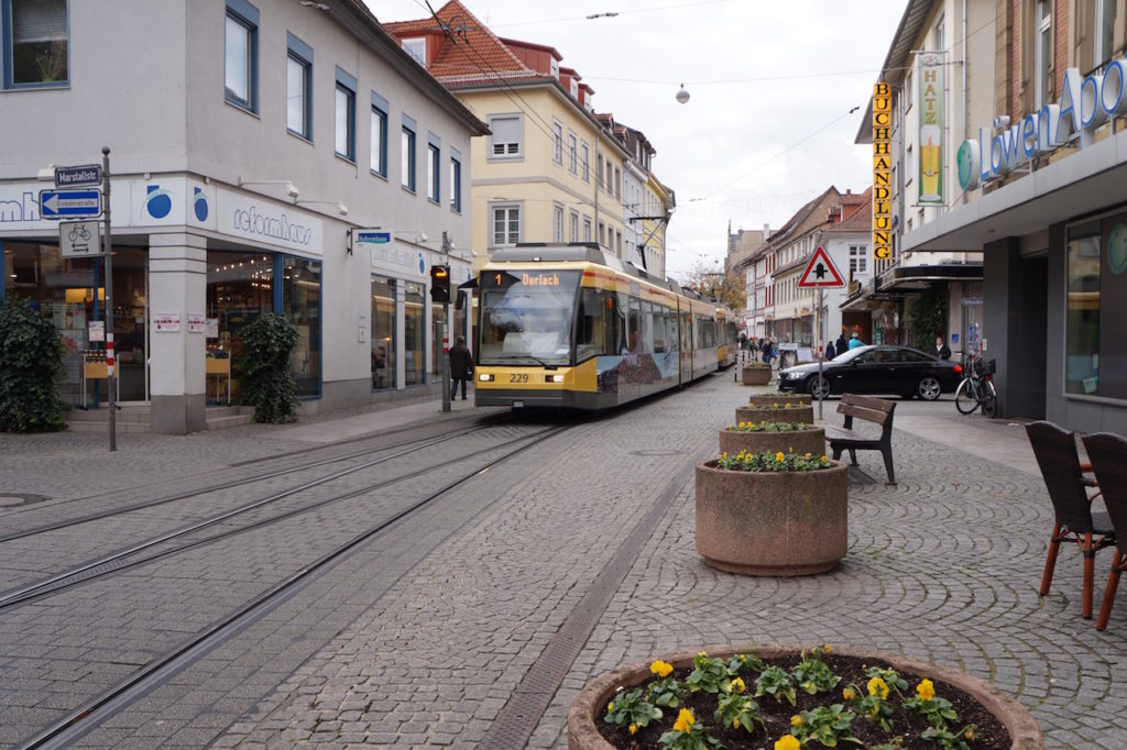 The city center of Karlsruhe