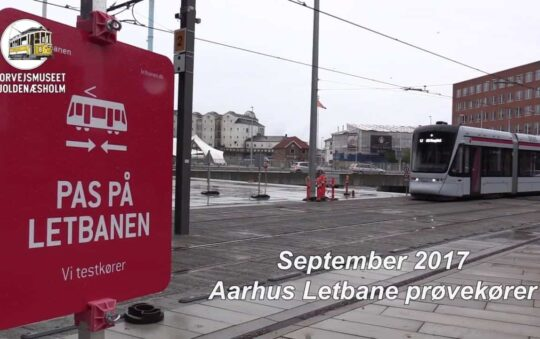Aarhus in Denmark is Finally getting their Light Rail Tram service going Today
