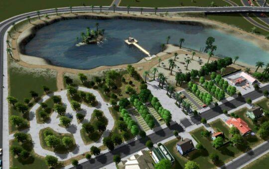 Manipulating Water in Cities: Skylines includes Terraforming Skills