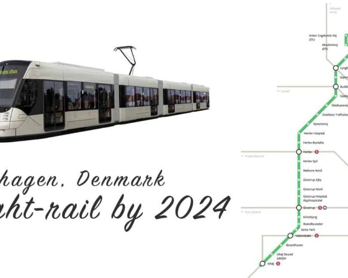 Siemens Light Rail wagons will be running in Copenhagen