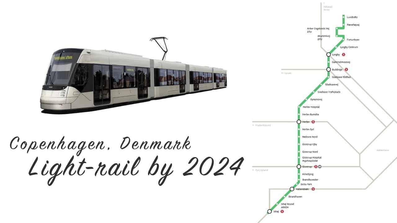 Siemens Light Rail wagons will be running in Copenhagen