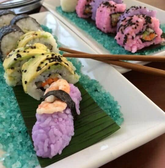 Smoked Salmon Sushi with Pink Rice Recipe