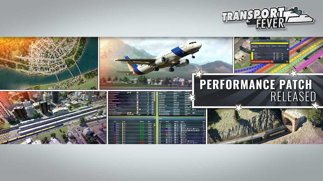 Performance Patch Released for Transport Fever
