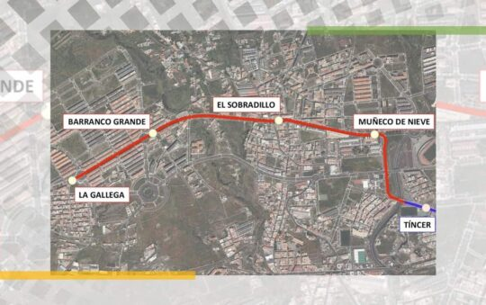 Tranvia de Tenerife Tram Extension plans Revealed for T2 Tram Line
