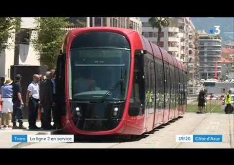 T2 Tram Line in Nice, France opened Service between center and Magnan