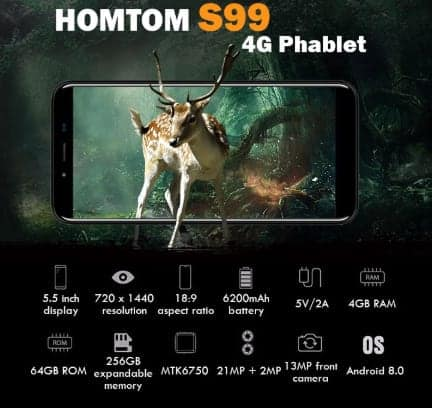Homtom s99 specs, Best cheap China Android Phones