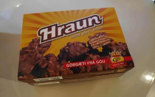 Let's Taste the 50 Year old Hraun Chocolate Crunchy bites from Iceland