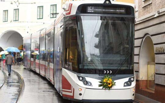 Gmunden Austria Light Rail People Mover Service started on 1st of September