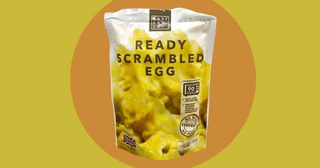 Scrambled Eggs in a bag at Iceland
