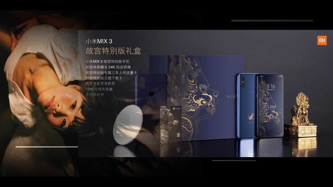 china phones company news with Xiaomi Mi Mix 3