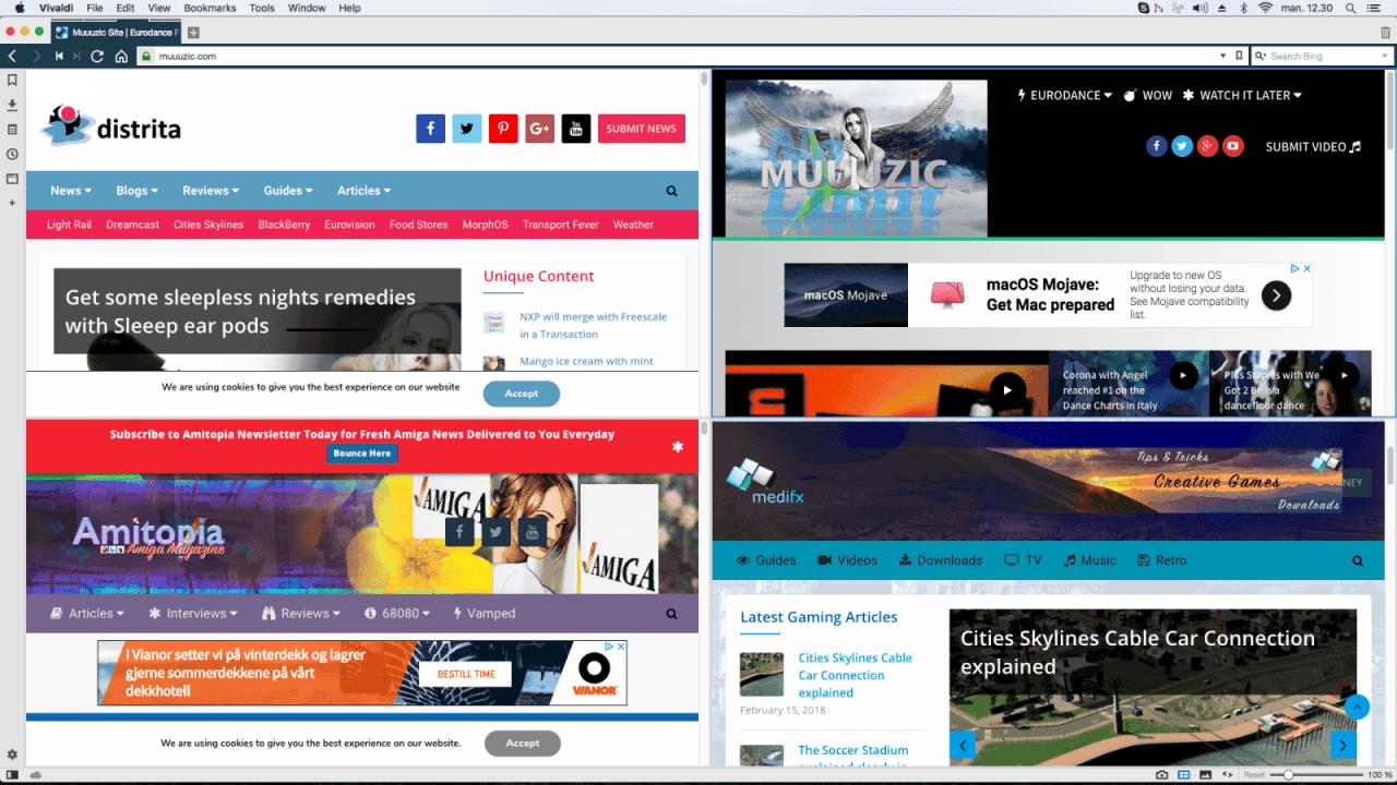 Review of Vivaldi web browser