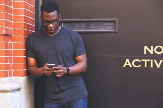 Buying A Smartphone Talking Man