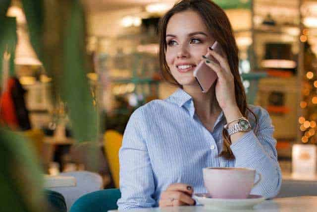 Buying A Smartphone Woman Talking