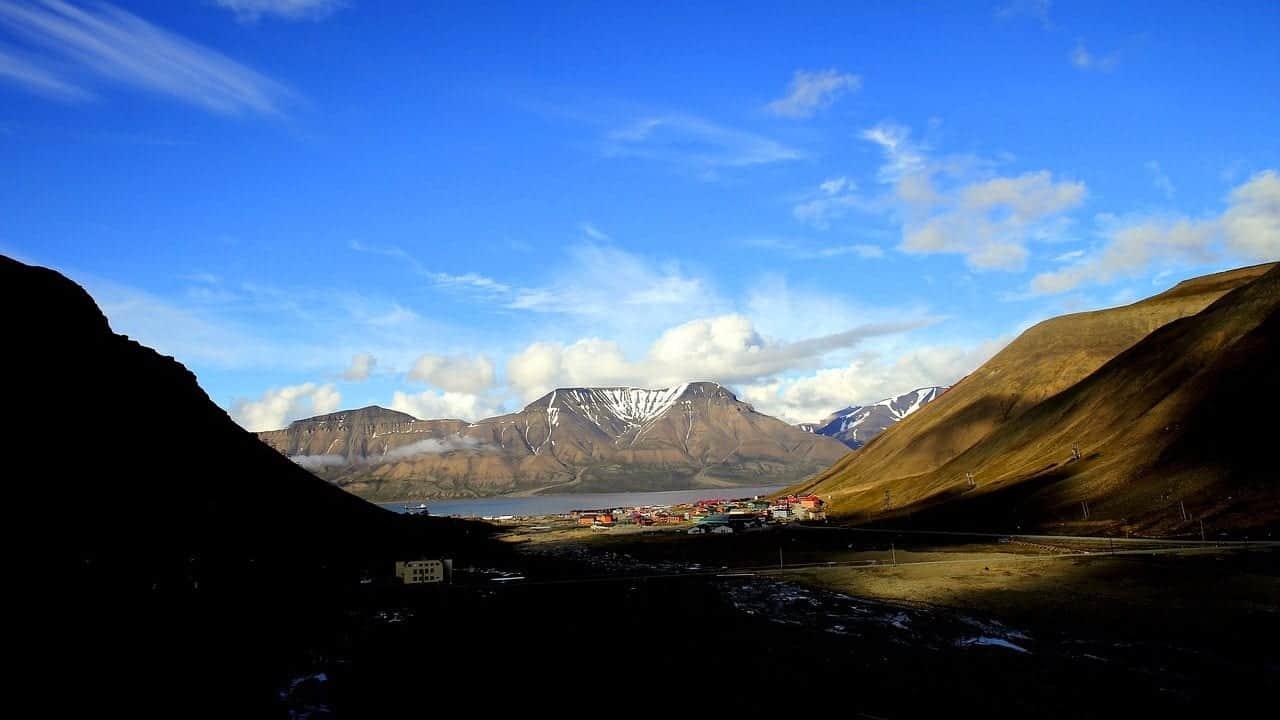 Longyearbyen at Spittsbergen Norway