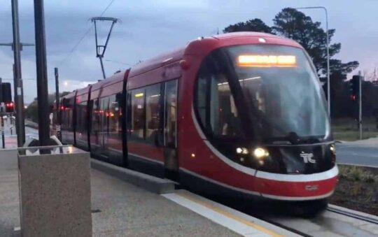 Capital of Australia with a New LRT just Opened