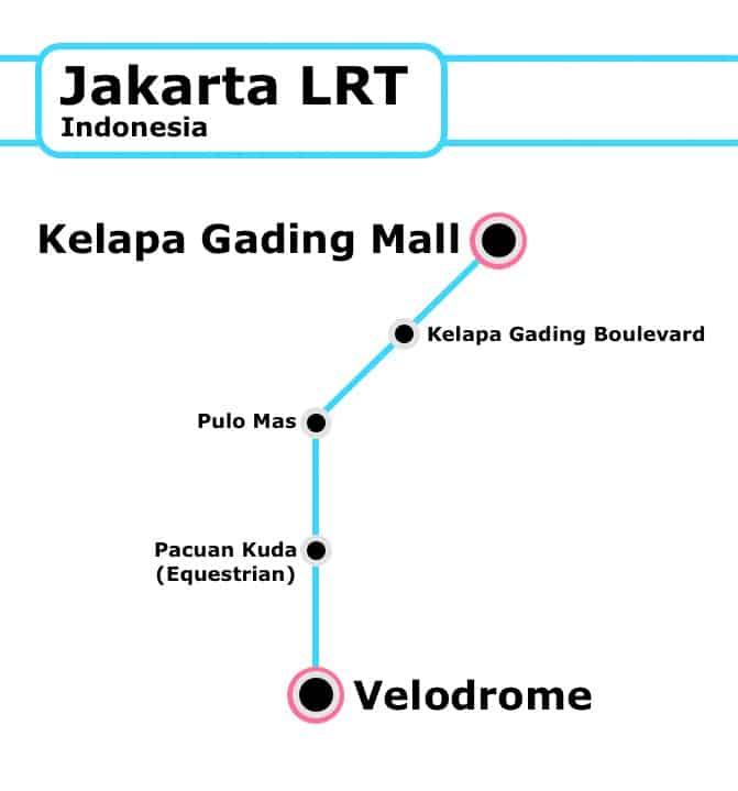 New Jakarta LRT Line reaching Velodrome