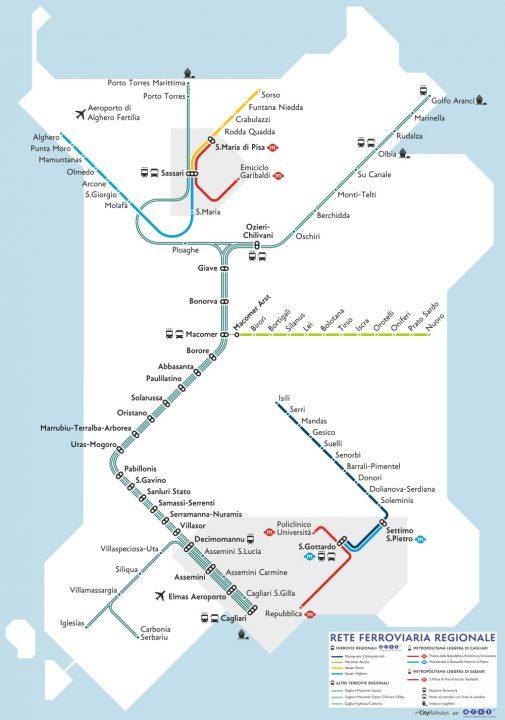 Sardegna got two Tram-Train Networks