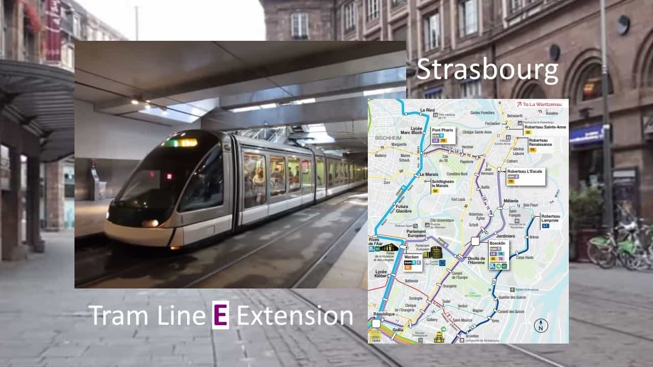 Extension of Tram Line E in Strasbourg now Open