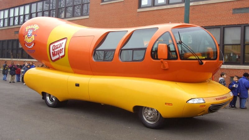 oscar mayer, hot dog day, hot dog wagon