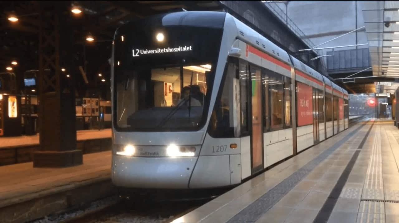 Aarhus Light Rail at the Central Station