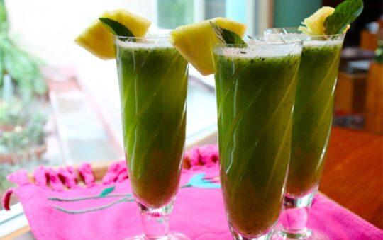 Easy to make Pineapple & Herbabuena Water recipe