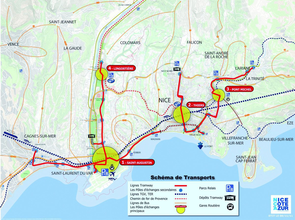 Light Rail Tram L2 now Reaches Port Olympia in Nice, France 1