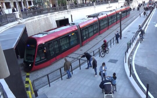 Light Rail Tram L2 now Reaches Port Olympia in Nice, France