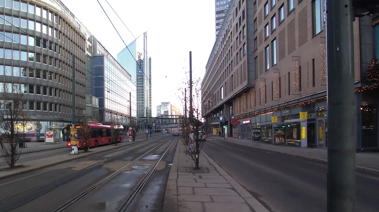 No cars in Oslo on the last day of 2019 2