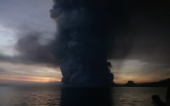 Taal volcano in Batangas, Philippines eruption
