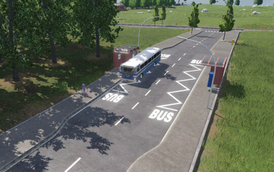 Slim Bus and Truck Zone streets for Transport Fever 2