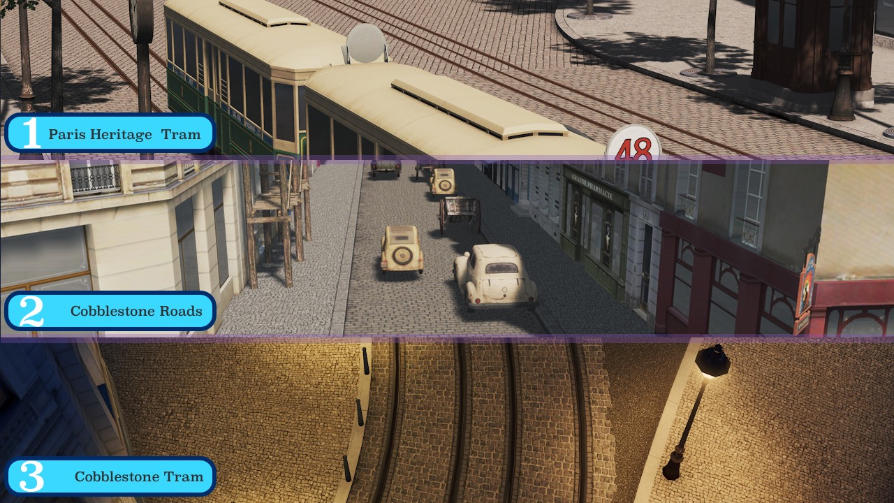 Heritage Cities Skylines Cobblestone Tram Layout Beautification 1