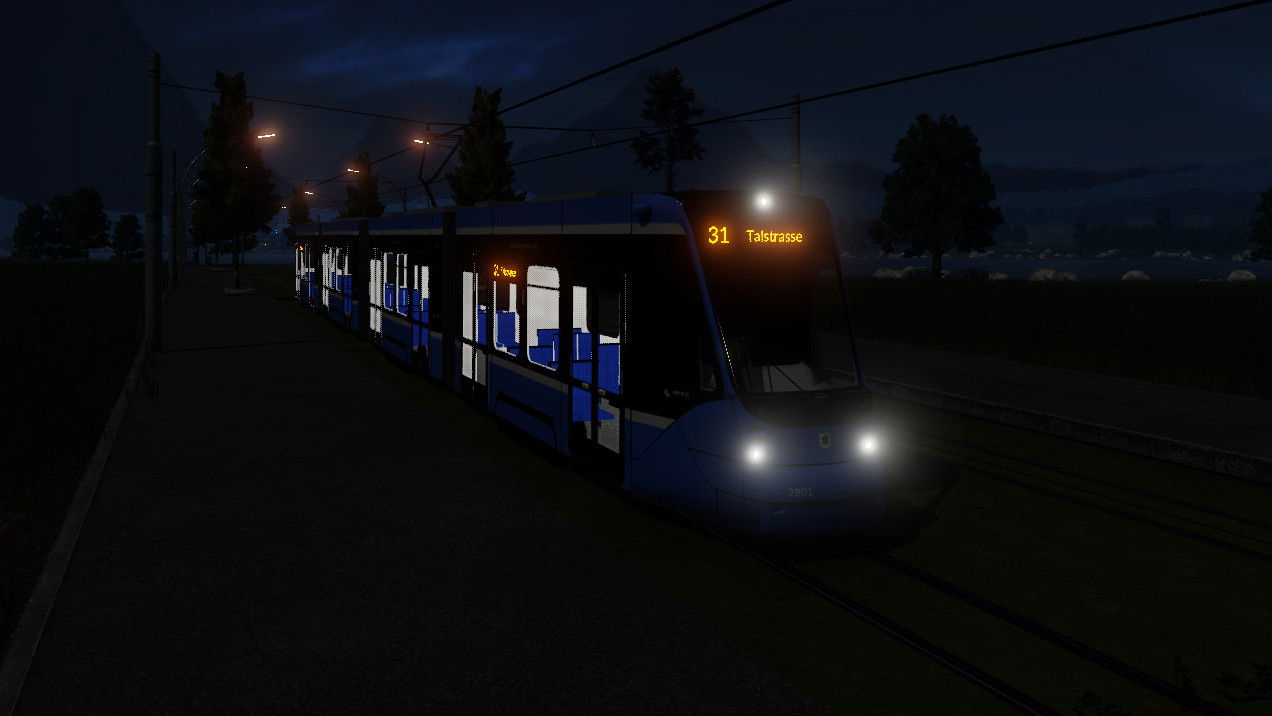 Get the awesome Siemens Avenio T Munich tramway for Transport Fever 2 2