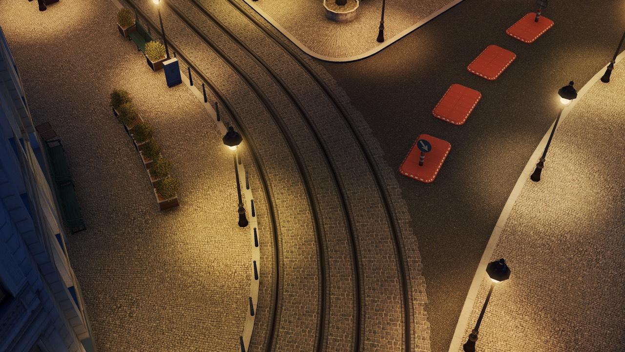 Heritage Cities Skylines Cobblestone Tram Layout Beautification 4