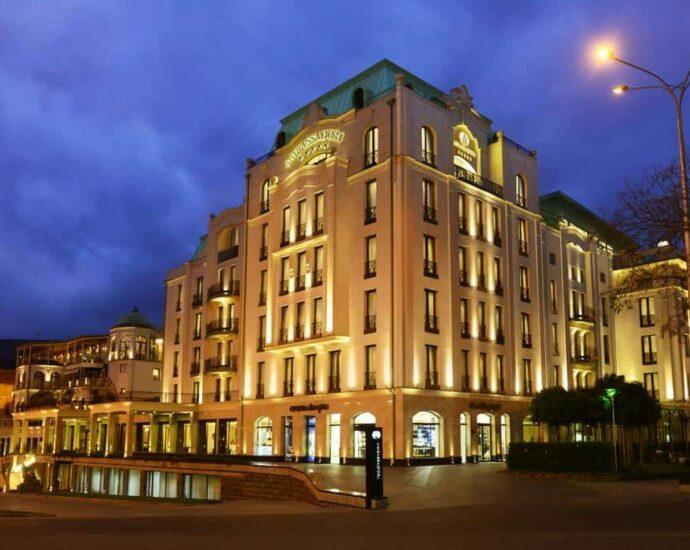 Ambassadori hotels in Tbilisi Georgia Guide entrance building