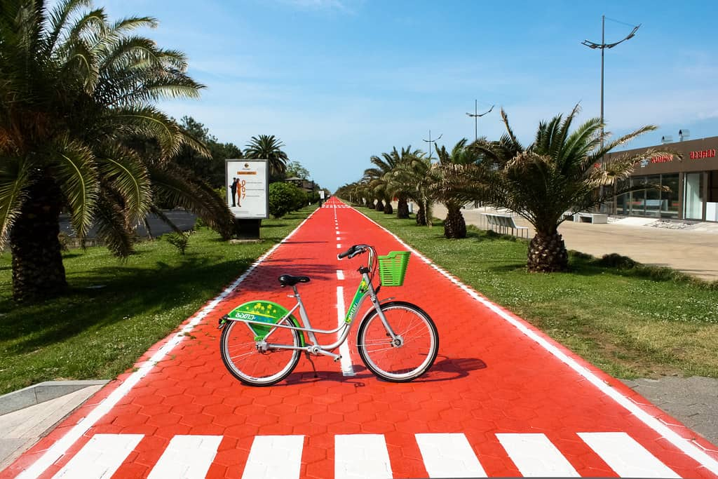 A quicker way to hang out in Batumi is by bike