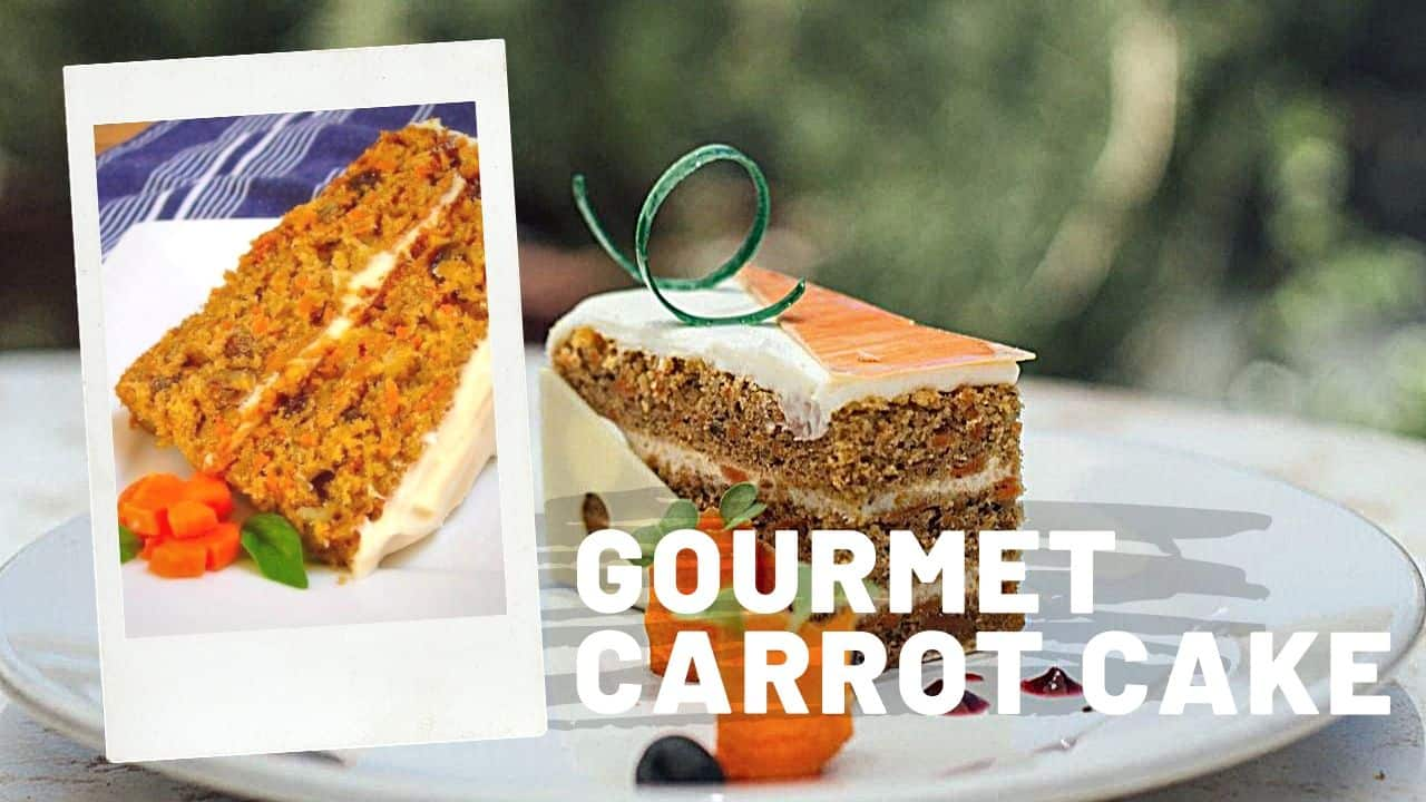 Homemade Gourmet Carrot Cake with hazelnuts and almond recipe 1