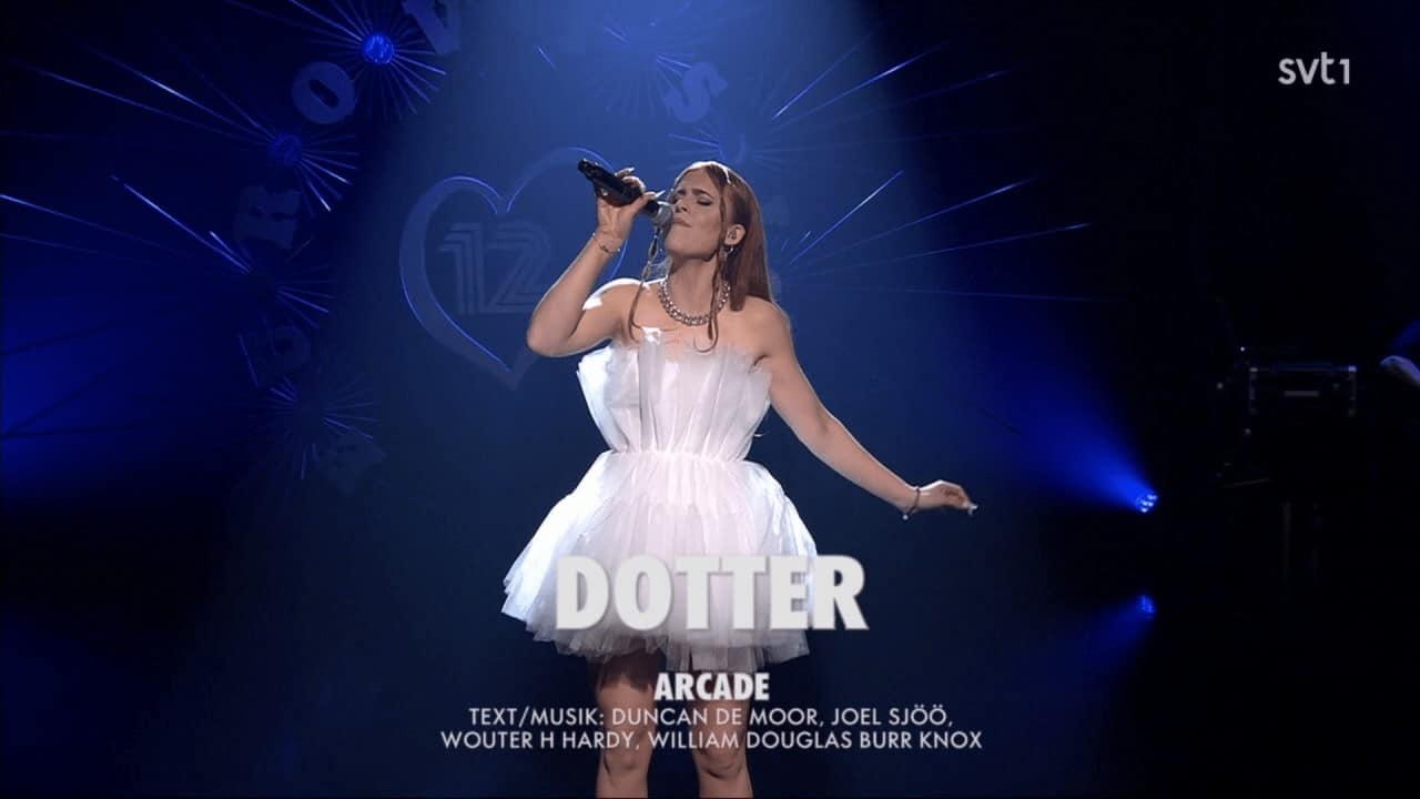 Dotter performing in Eurovision 12