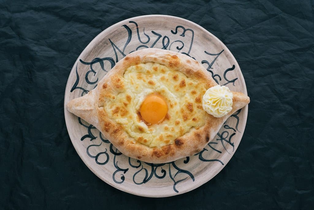 Georgian dishes with egg
