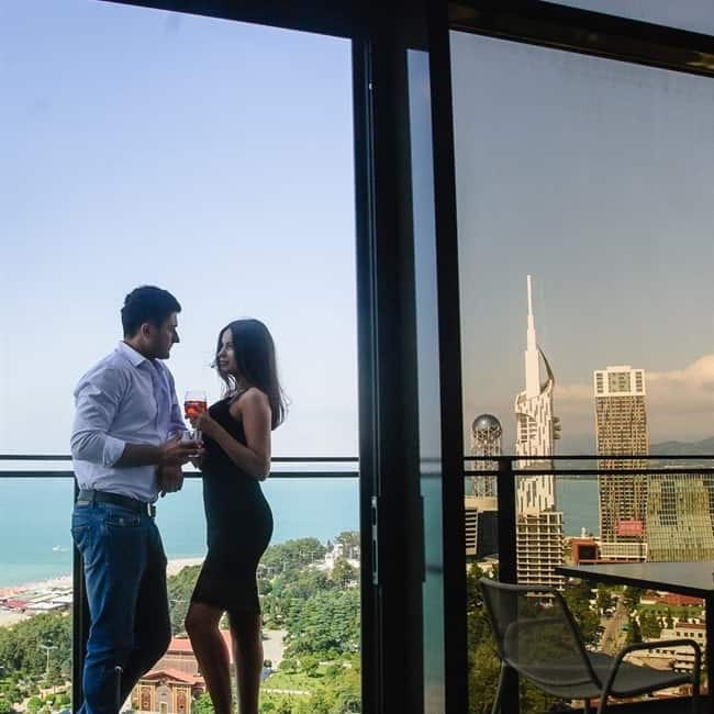 Skybar Batumi is perfect for a romantic dinner