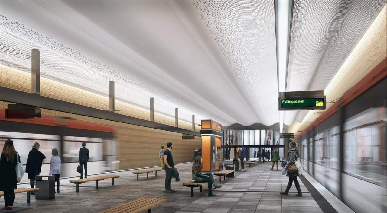 This will be the Very First Light Rail Underground station in Norway 2