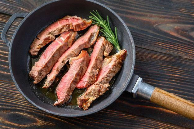 Beef steak with vegetables recipe 2